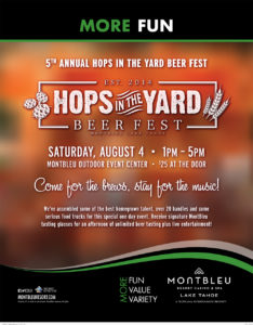 Hops in the Yard Beerfest at MontBleu August 4, 2018